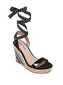 Betsey Johnson Pink Colvin Ankle-Strap Wedge Espad