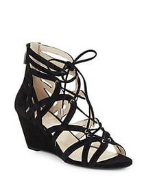 Kenneth Cole New York Dylan Suede Cage Wedge Sanda