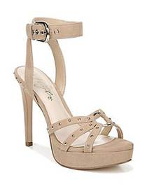Fergie Reckless Suede Platform Sandals BEIGE