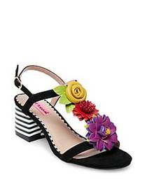 Betsey Johnson Blue Adde Faux Leather Sandals BLAC