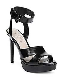 Fergie Righteous Leather Platform Sandals BLACK