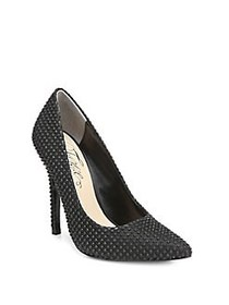 Fergie Alexi Textile Studded Pumps BLACK