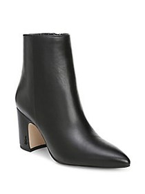 Sam Edelman Hilty Pointy Leather Booties BLACK