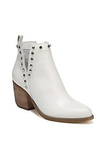 Fergie Mariella Leather Booties WHITE