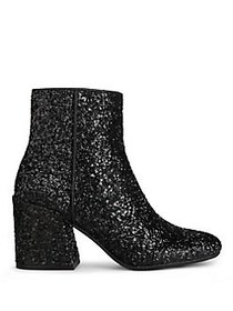 Kenneth Cole New York Randii Glitter Booties BLACK