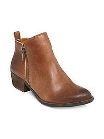Lucky Brand Basel Zip Up Booties TOFFEE