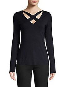 Bailey 44 Crisscross Stretch Top MIDNIGHT BLUE