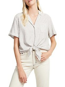 French Connection Laiche Tie-Front Button-Down Shi