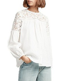 French Connection Colette Lace Cotton Top SUMMER W