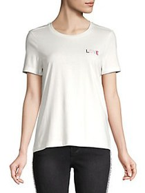 Vero Moda Graphic Short-Sleeve Top SNOW WHITE