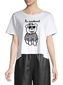 French Connection Le Weekend Bulldog Graphic Tee W