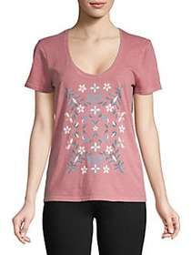 Lucky Brand Floral Mosaic Graphic Tee DUST