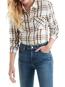 Lucky Brand Plaid Long-Sleeve Button-Down Shirt WH