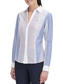 Tommy Hilfiger Striped Multicolor Cotton Shirt DEN