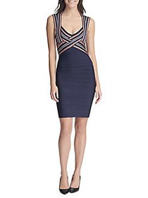 Guess Striped Bodycon Dress NAVY