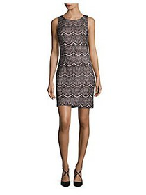 Guess Crewneck Sheath Dress BLACK PINK