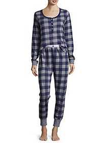 Tommy Hilfiger Moose Print Pajamas BLUE BUFFALO