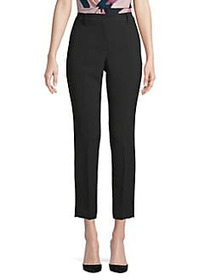 Donna Karan Cropped Crepe Pants BLACK
