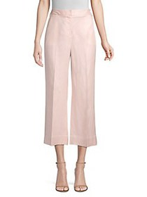 Donna Karan Linen-Blend Cropped Pants BLUSH