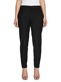 Chaus Straight Leg Twill Pants RICH BLACK