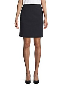 Anne Klein Zipped Mini Skirt BLACK
