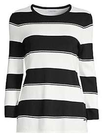 Calvin Klein Dotted Stripe Sweater BLACK WINTER WH