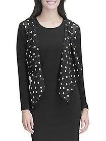 Tommy Hilfiger Pretty Women Dot Cascade Shrug BLAC