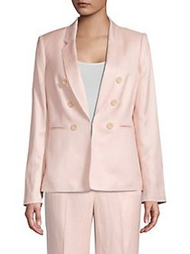 Donna Karan Double Breasted Blazer Jacket BLUSH