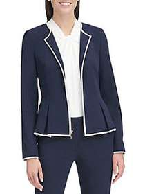 Tommy Hilfiger Peplum Roundneck Jacket MIDNIGHT BL
