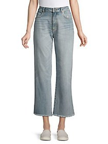 French Connection Cropped Wide-Leg Jeans LIGHT VIN