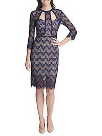 Guess Three-Quarter Sleeve Cut-Out Lace Sheath Dre