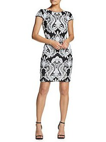 Dress The Population Tabitha Embroidered Mini Dres
