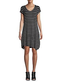 Marc New York Performance Striped V-Neck Shirt Dre