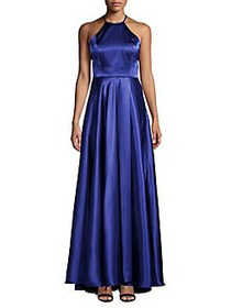 Blondie Nites Classic Halterneck Gown ROYAL