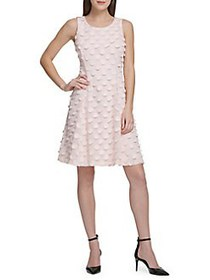 Donna Karan Textured Shift Dress PALE PINK