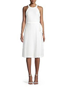 Karl Lagerfeld Paris Belted Halter Dress ECLIPSE