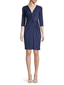 Vince Camuto Embellished Twisted Front Sheath Dres