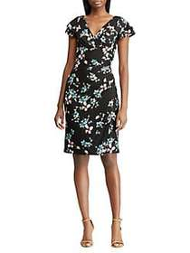 Lauren Ralph Lauren Floral Ruched Jersey Dress BLA