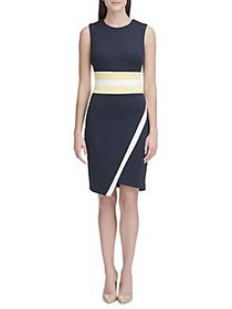 Tommy Hilfiger Colorblock Asymmetric Hem Sheath Dr