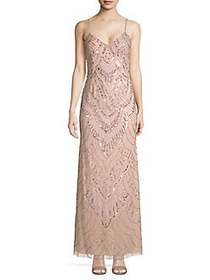 Jump Long Slim Beaded Gown BLUSH