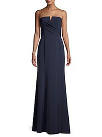 Vince Camuto Strapless Splitneck Down NAVY