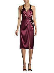 Jill by Jill Stuart Satin Knotted Front Dress CURR