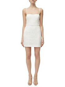 French Connection Lace Sheath Dress SUMMER WHITE