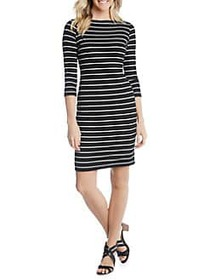Karen Kane Quarter-Sleeve Striped Sheath Dress BLA