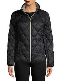 MICHAEL Michael Kors Quilted Zipper Front Jacket B