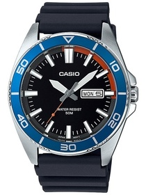 Casio Men's Dive Style Watch, Black Day-Date Dial
