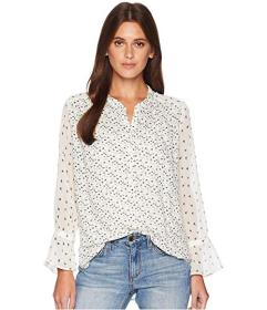 Lucky Brand Mix Print Floral Peasant Top