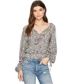 Lucky Brand Banded Bottom Peasant Top