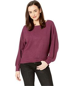 Lucky Brand Ribbed Dolman Pullover Top