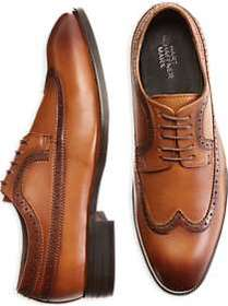 Hart Schaffner Marx Tan Wingtip Oxfords